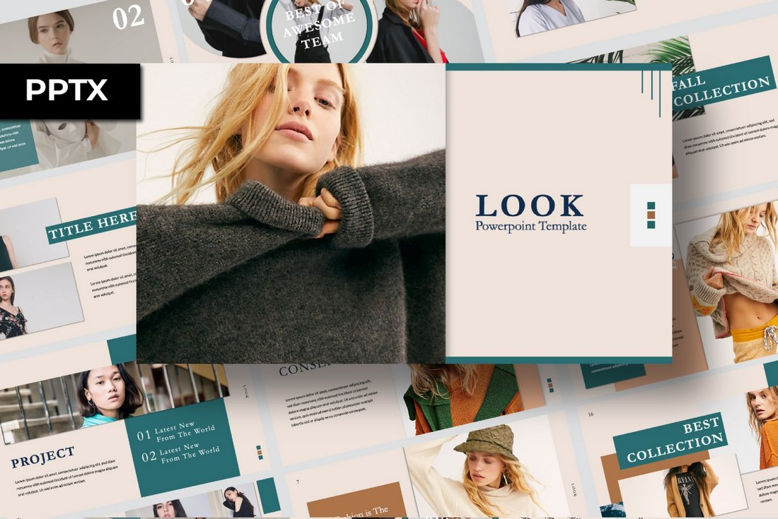 Look - Free Cool Powerpoint Template