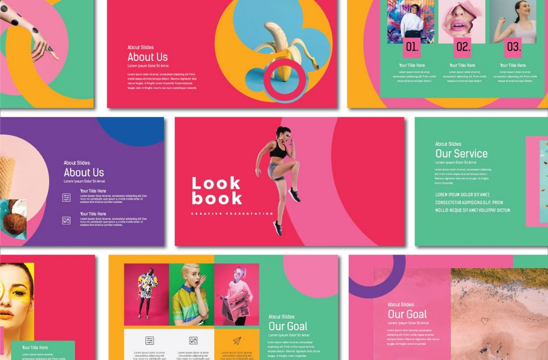 Lookbook - Free Pastel Presentation Template