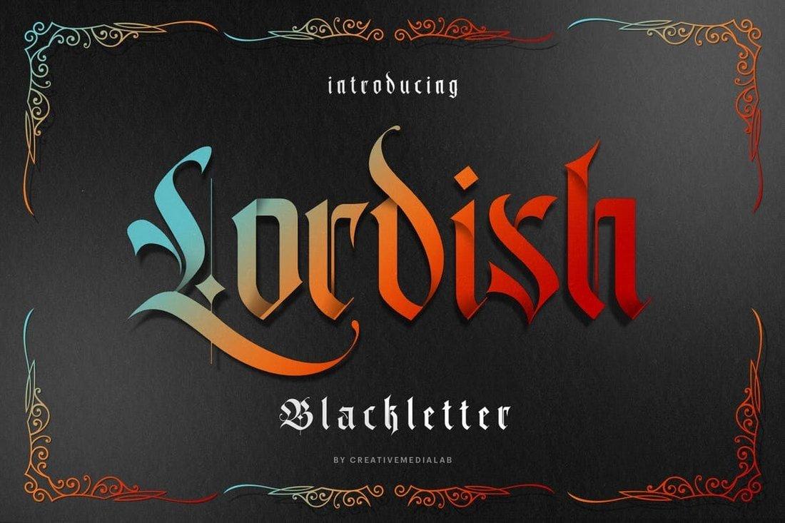 Lordish - Modern Blackletter Font
