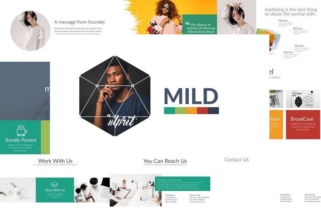 MILD - Minimal & Cool Powerpoint Template
