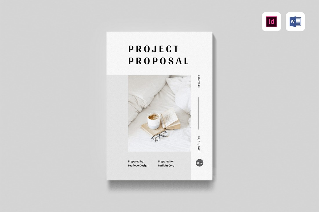 MS Word & InDesign Project Proposal Template