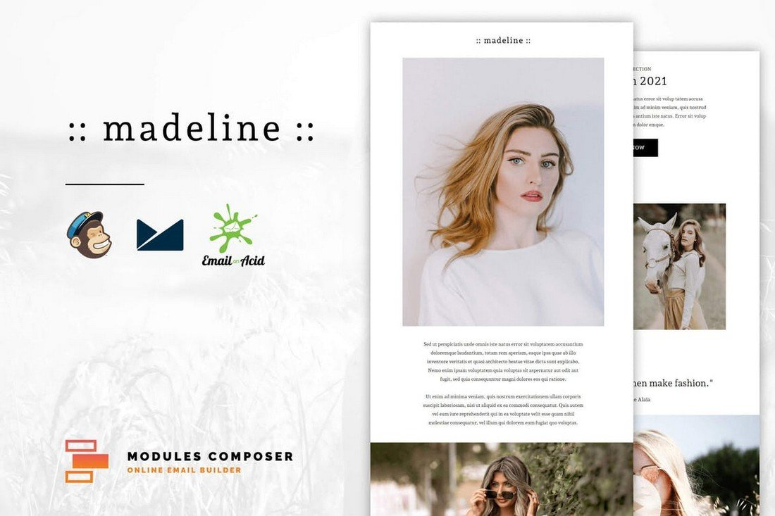 Madeline - Minimal eCommerce MailChimp Email Template