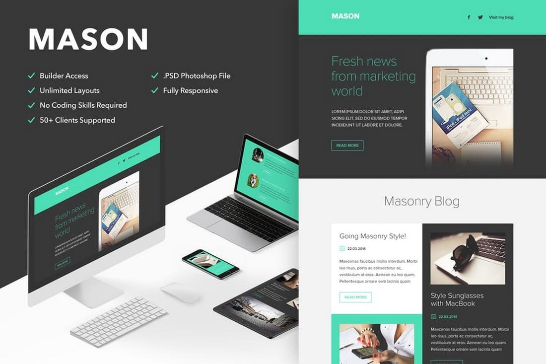 Mason - Responsive Email Newsletter Template