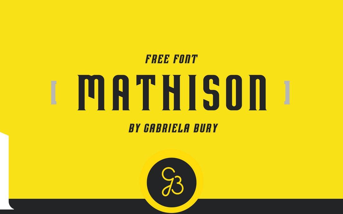 Mathison - Free Modern Display Font