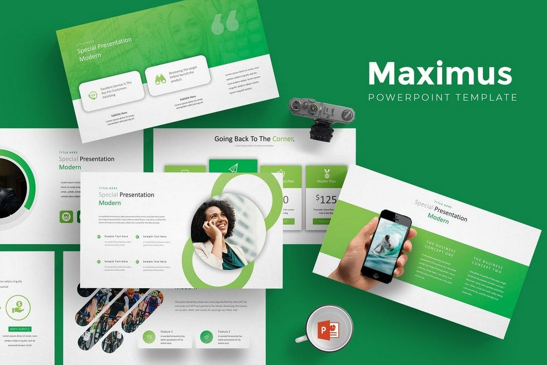 Maximus - Modern & Cool Powerpoint Template