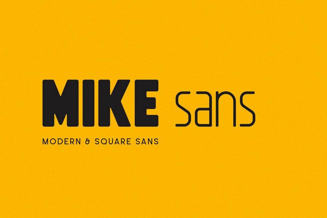 Mike Sans - Square Font