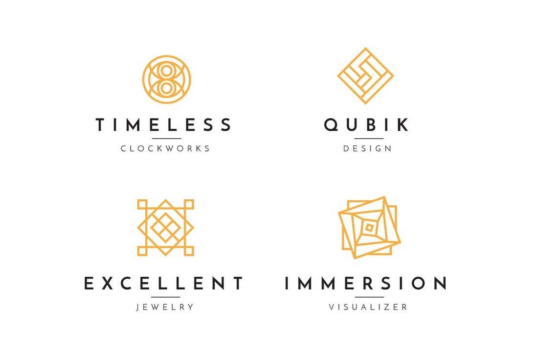 Minimal Geometric Logo Collection