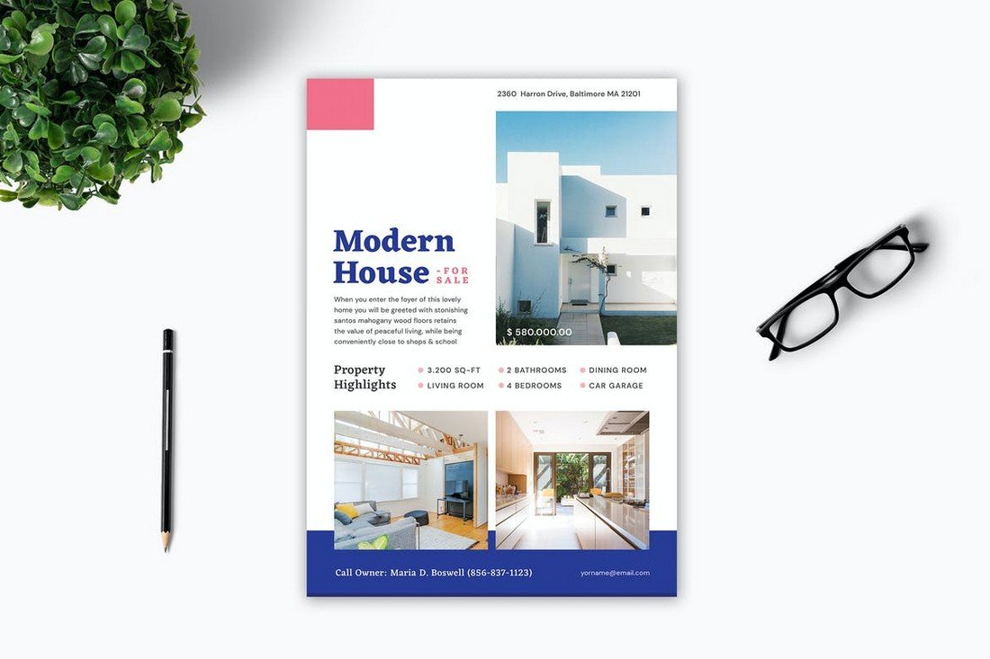 Minimal House Sale for Flyer Template