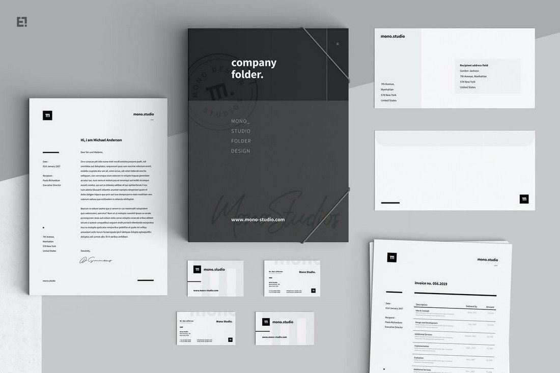 Minimalist Business Stationery Templates