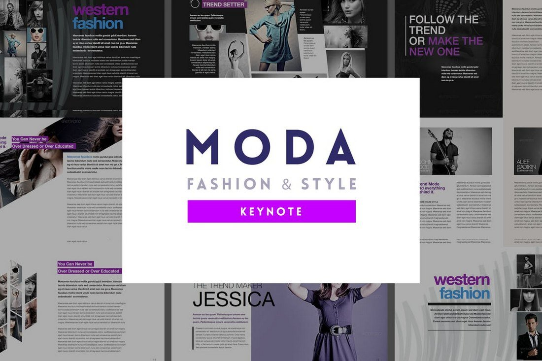 Moda - Animated Keynote Template