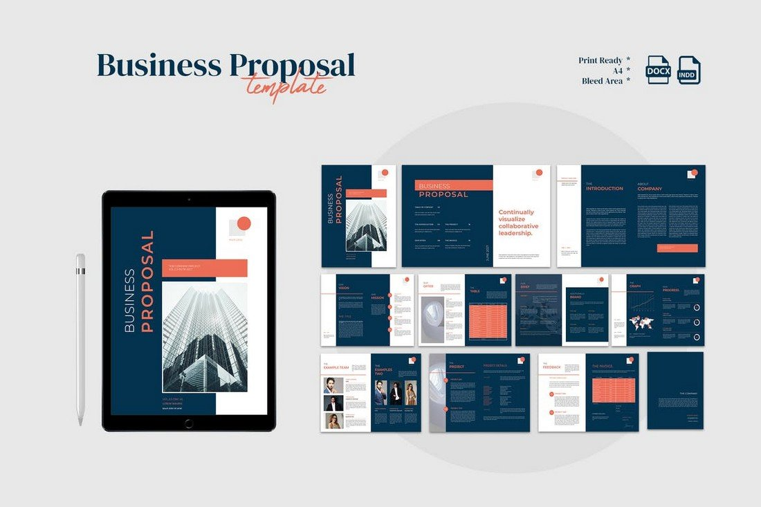 Modern Business Proposal Template for Word