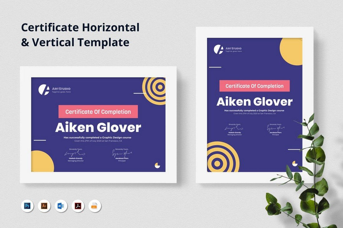 Modern Certificate of Completion Template