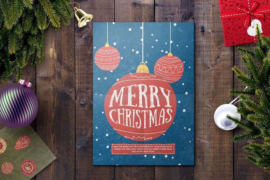 Modern Christmas Card Template