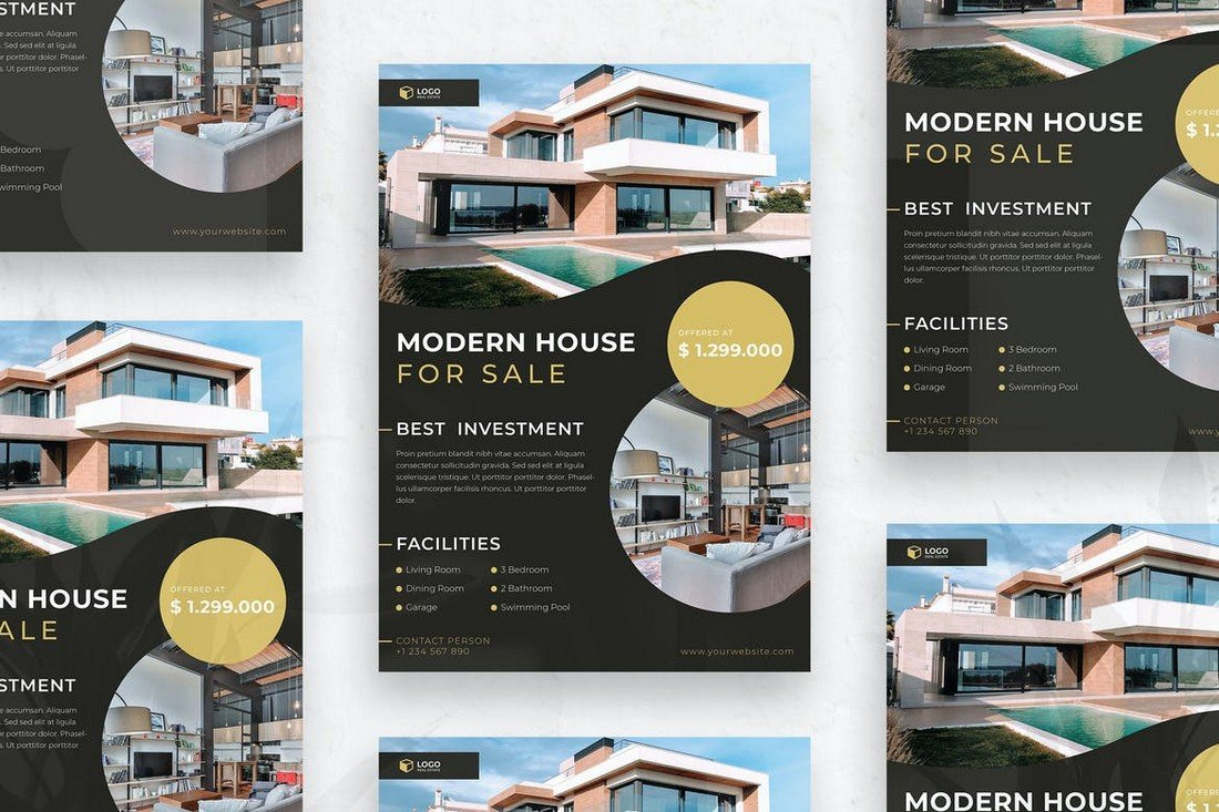 Modern House for Sale Flyer Template