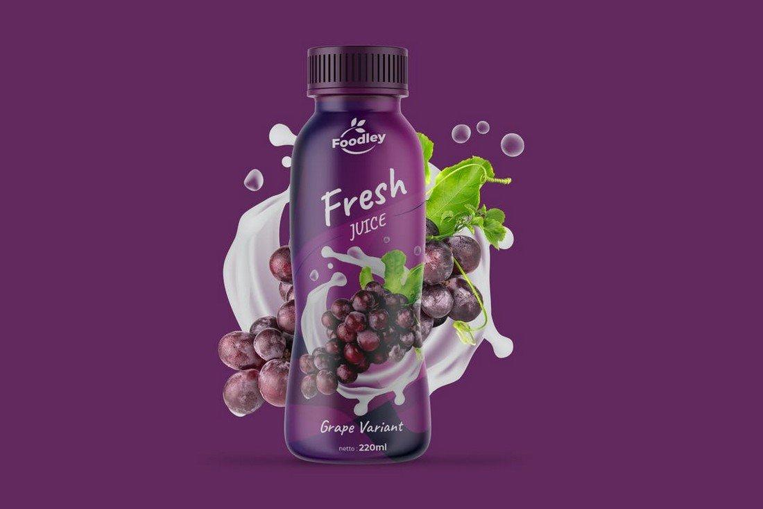 Modern Juice Label Design Template