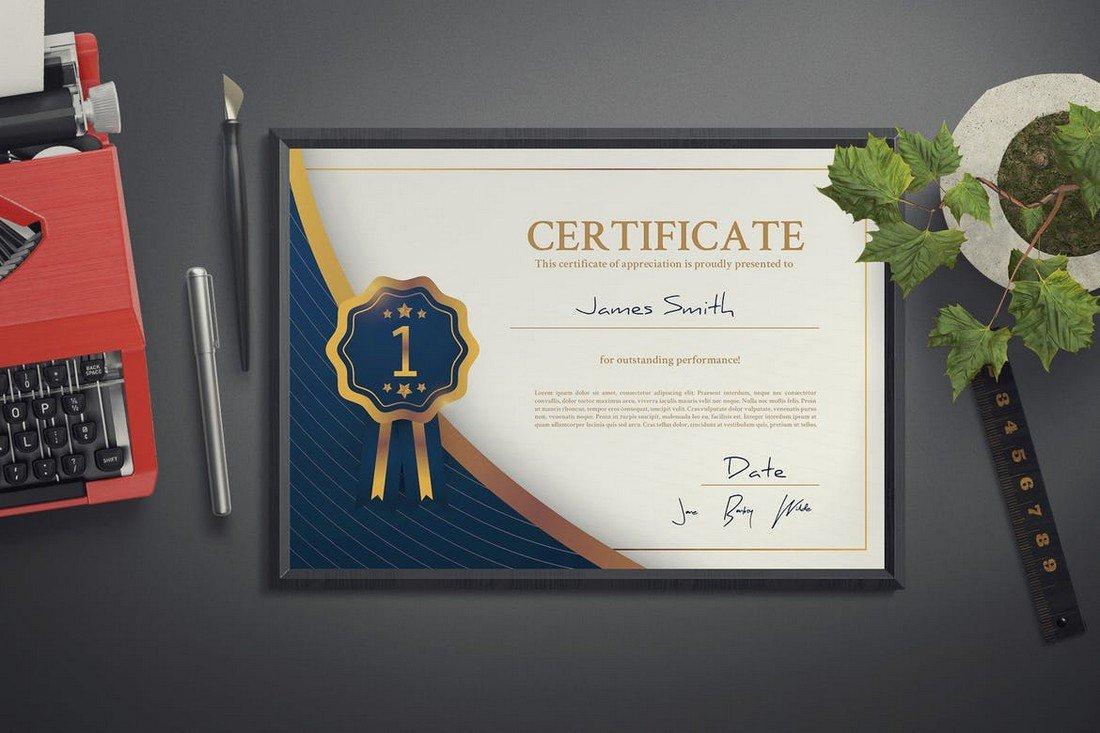 Modern Scholarship Certificate Template