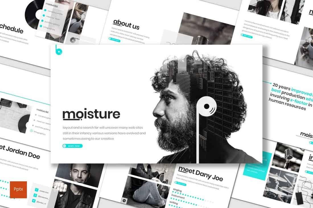 Moisture - Modern Powerpoint Template