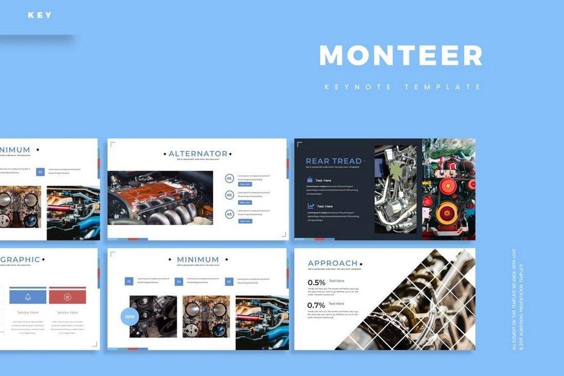Monteer - Elegant Keynote Template