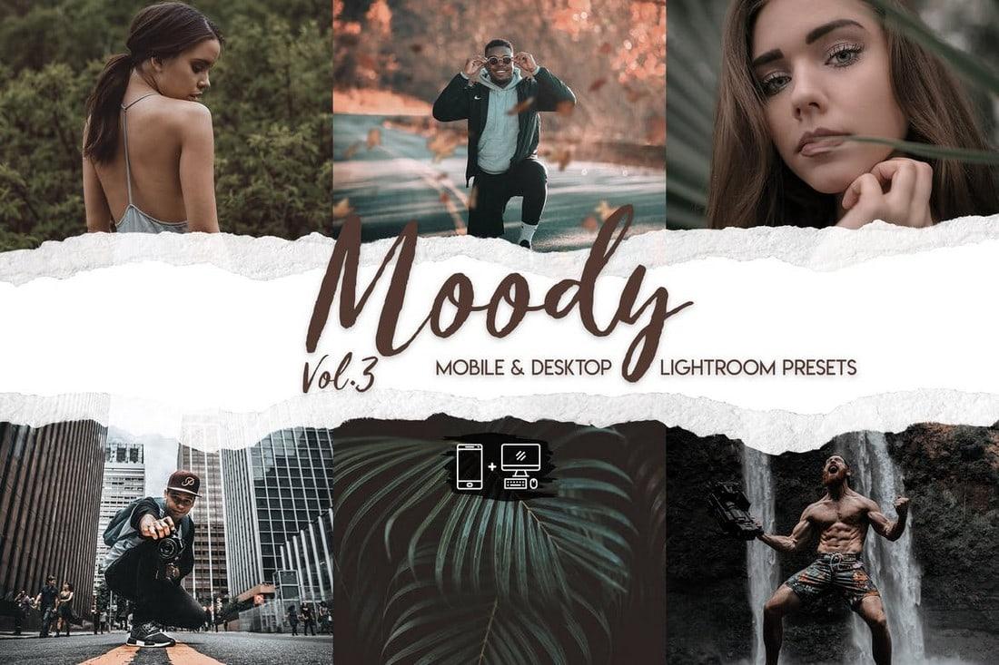 Moody Lightroom Presets for Portraits