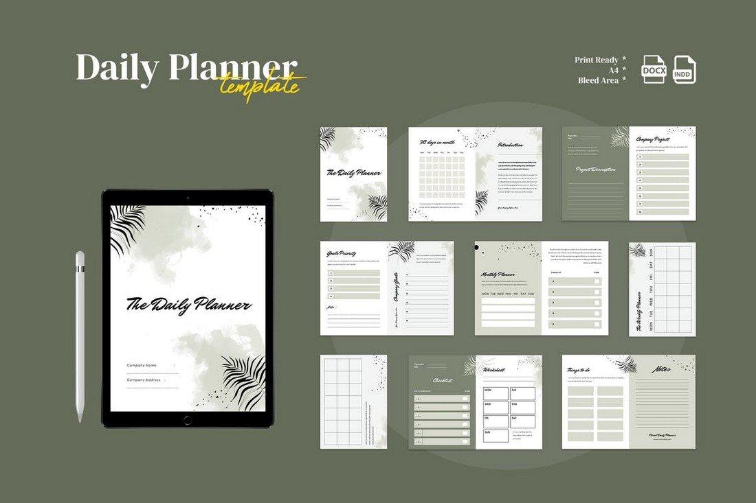 Multipurpose Daily Planner Template