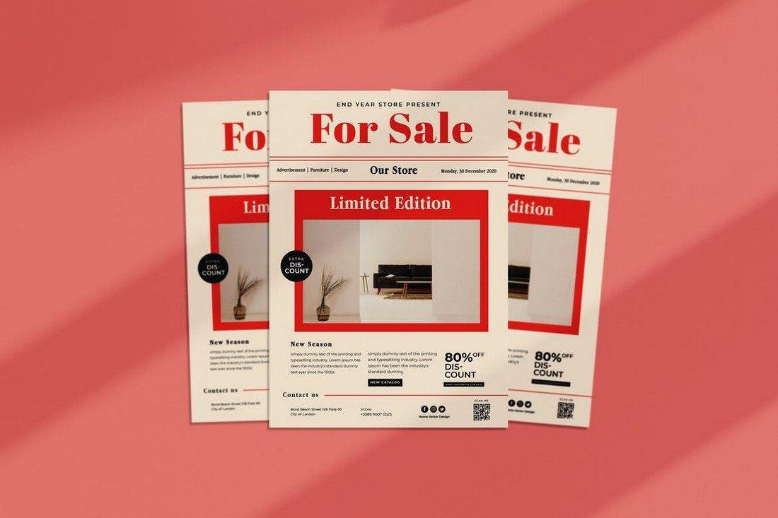 Multipurpose For Sale Flyer Template