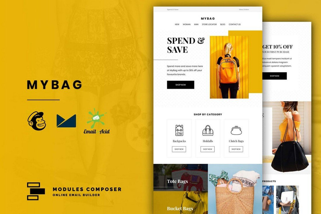 MyBag - Ecommerce Email Template for MailChimp