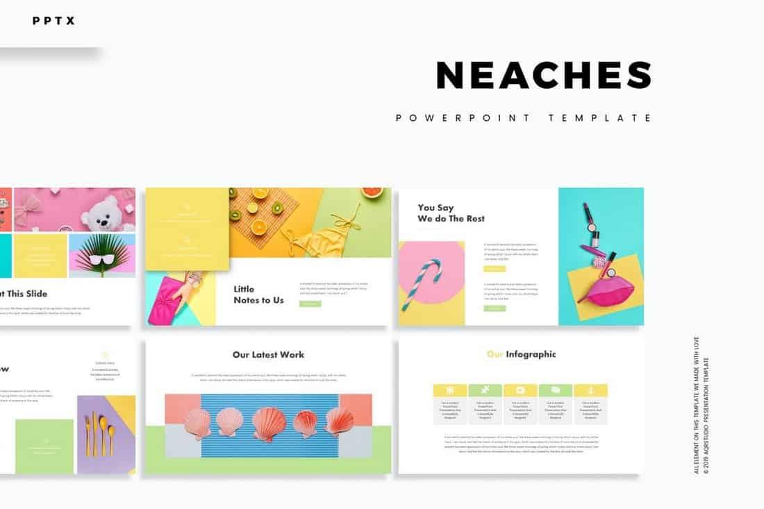 Neaches - Minimal Powerpoint Template