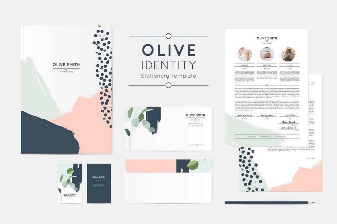 Olive - Identity Stationery Template