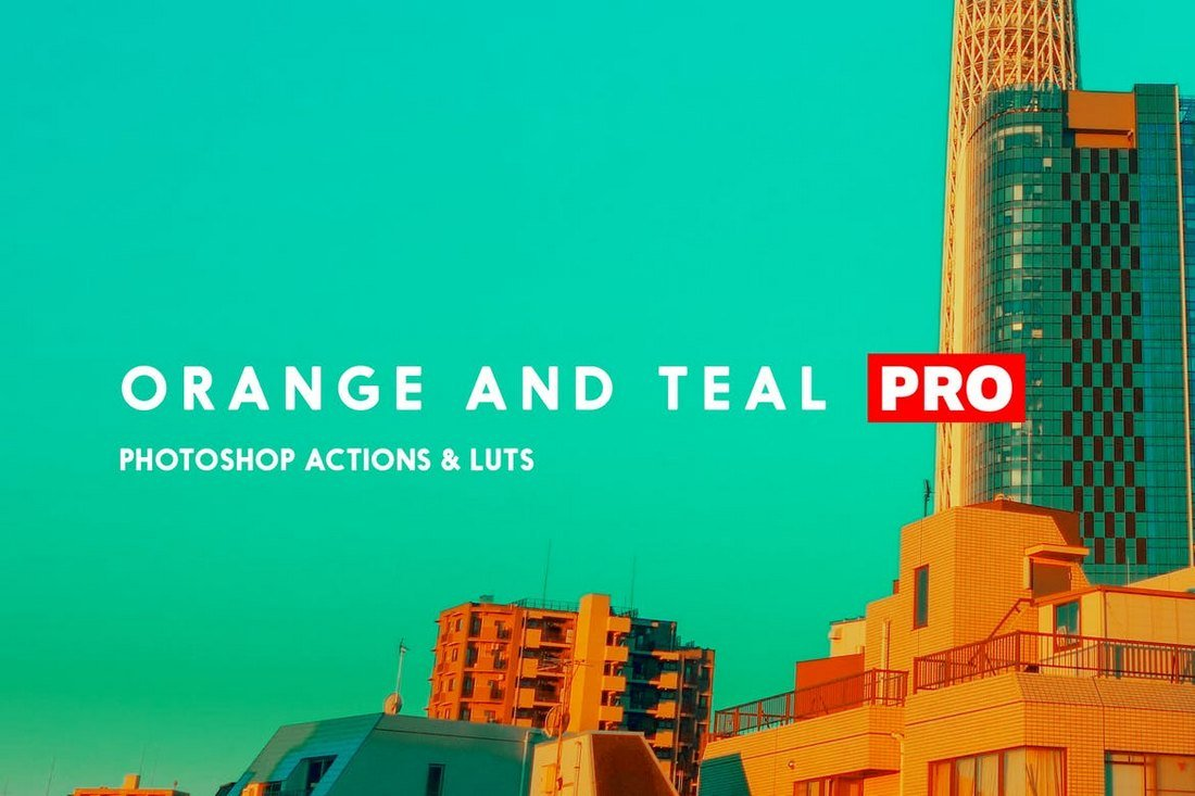 Orange and Teal Pro Photoshop Actions