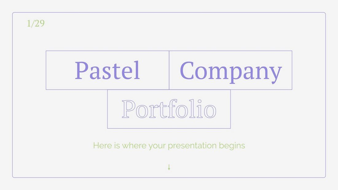 Pastel Company - Free Minimal PowerPoint Template