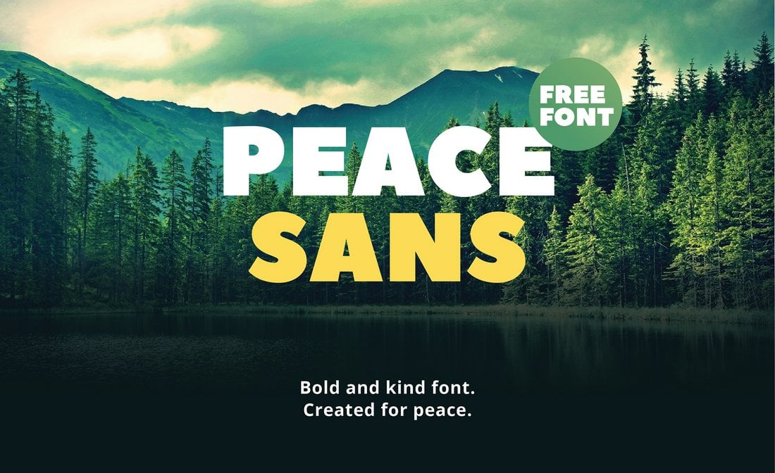 Peace Sans - Free Presentation Font