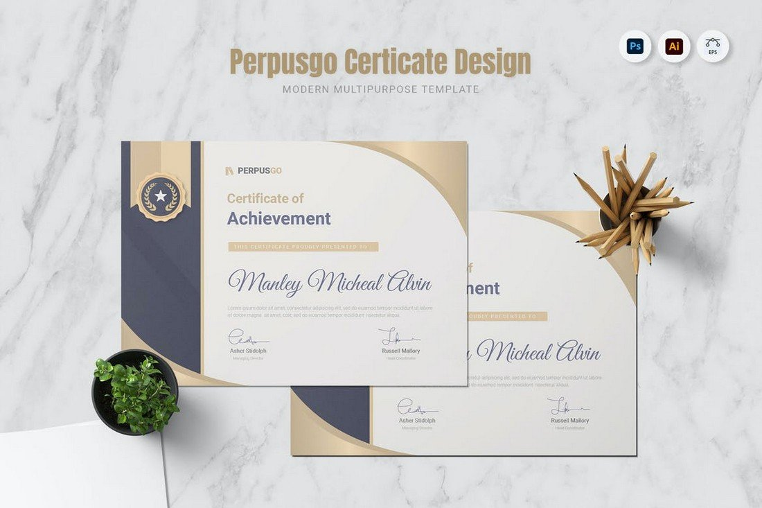 Perpusgo - Certificate Design Template