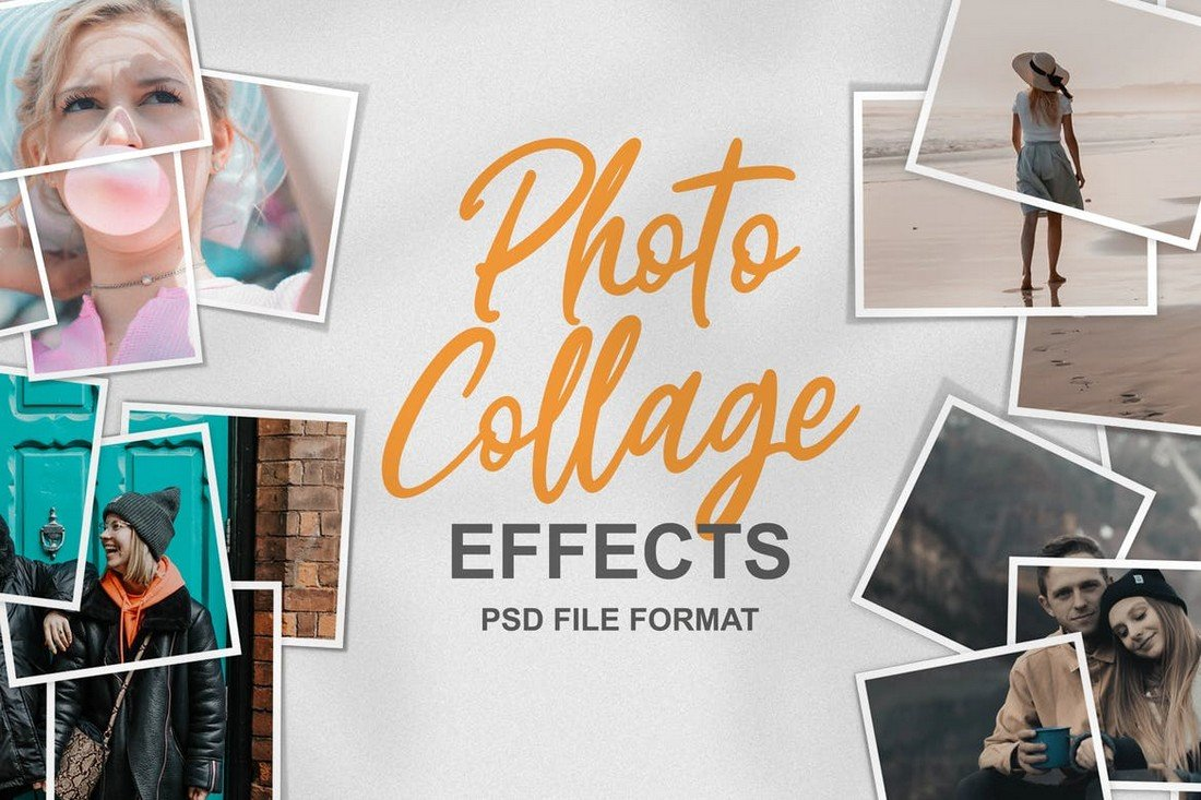 Photo Collage Effects for Photoshop