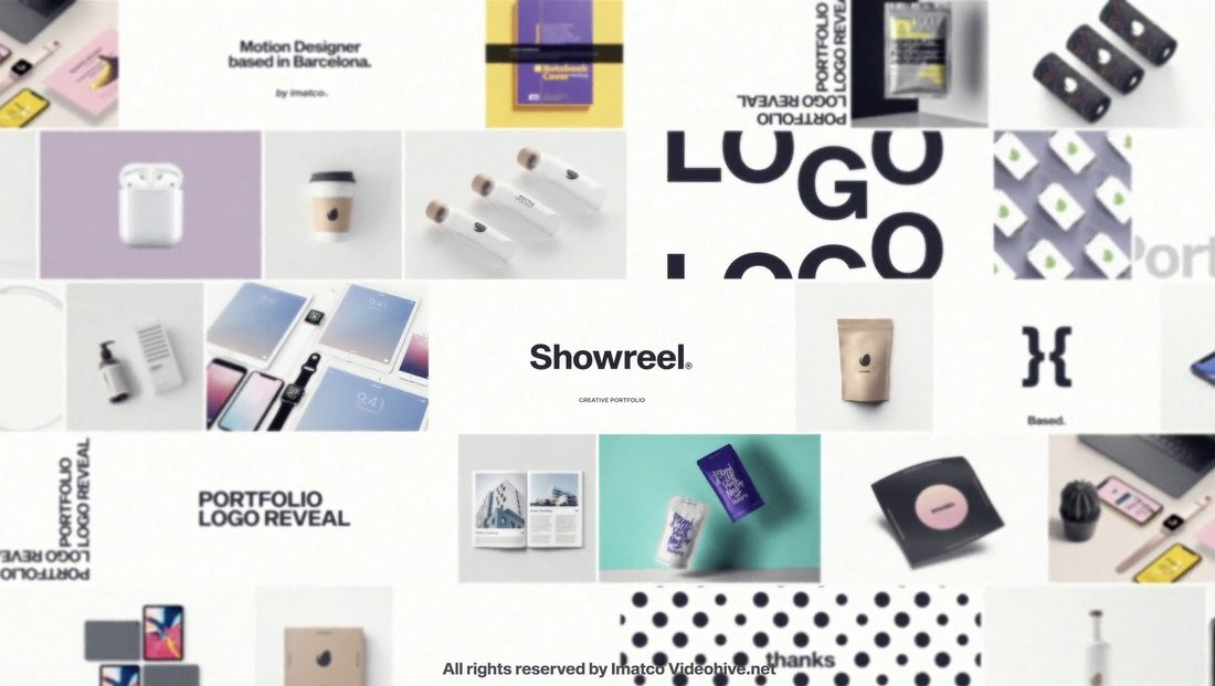 Portfolio Logo Reveal Template for After Effects