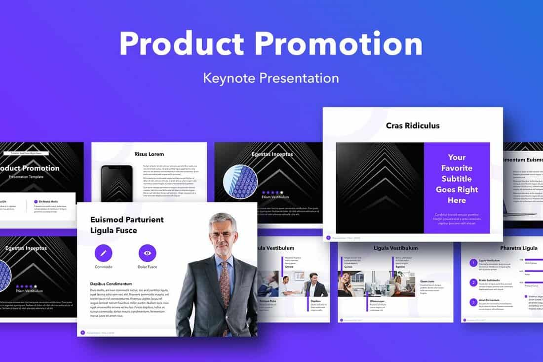 Product Promotion Keynote Template