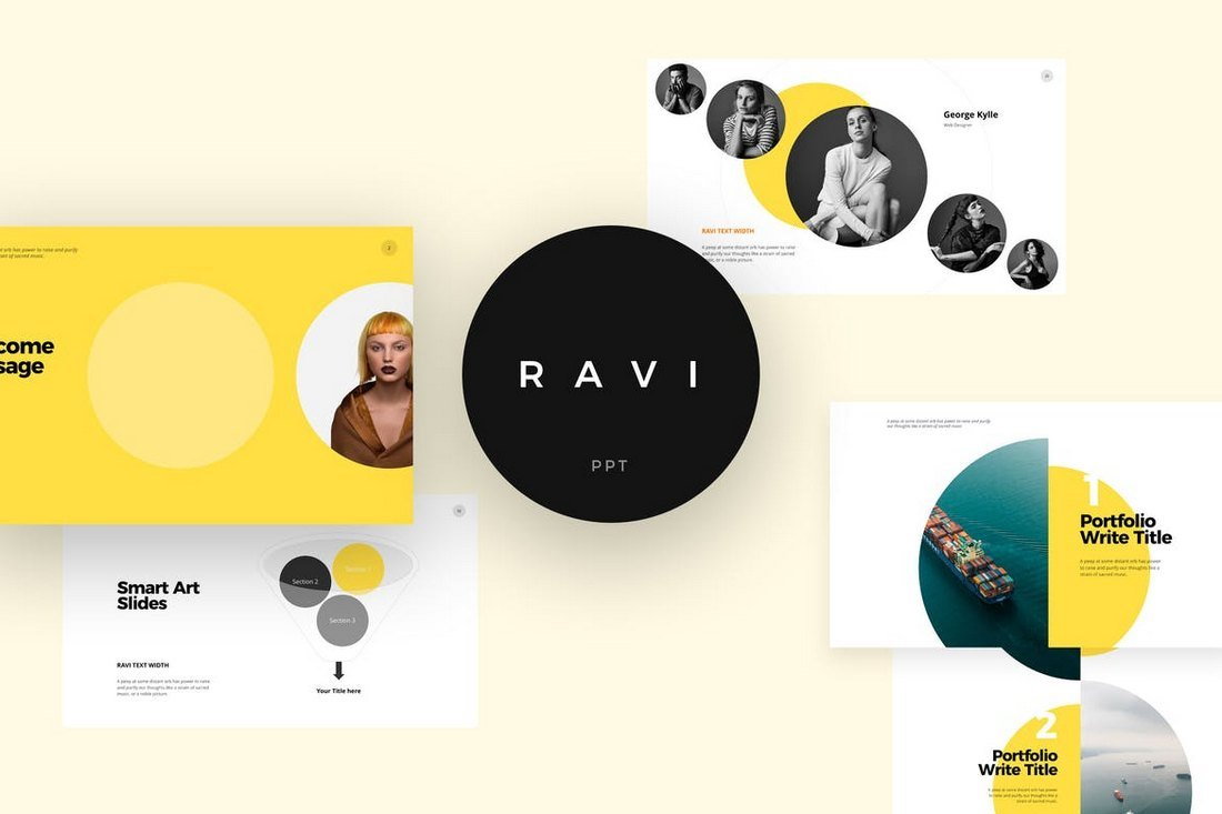 RAVI - Cool Powerpoint Template