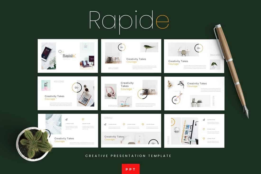 Rapide - Modern Powerpoint Presentation Template