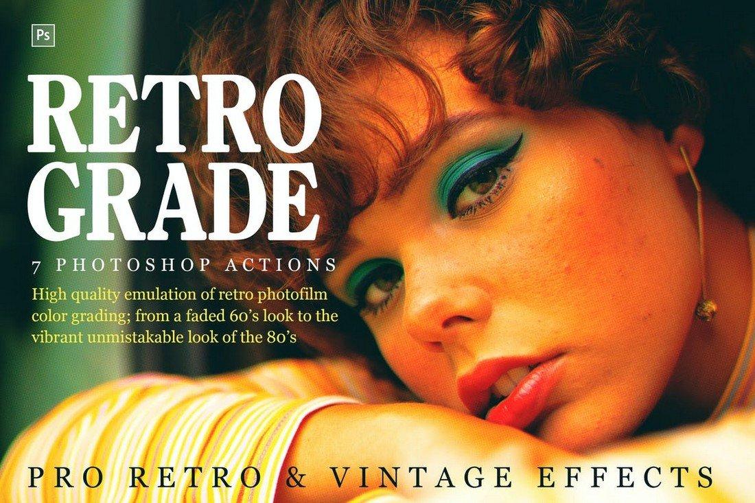 Retrograde, Retro and Vintage Photoshop Actions