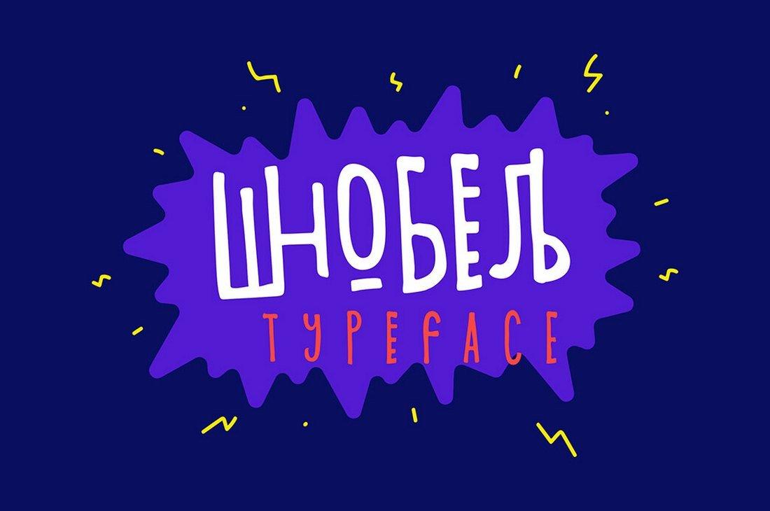 SHNobel - Free Fun Procreate Font