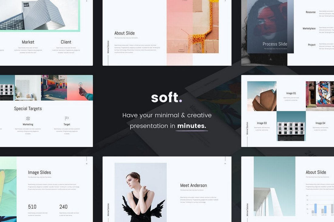 SOFT - Minimal & Cool PowerPoint Template
