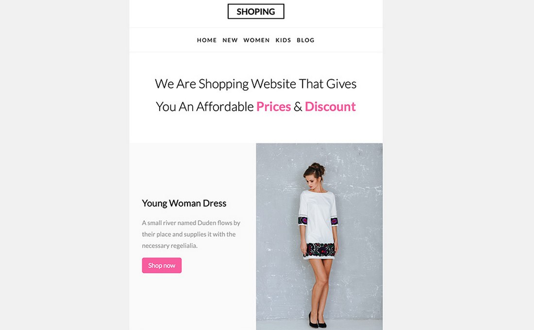 Shopping - Free eCommerce Email Template