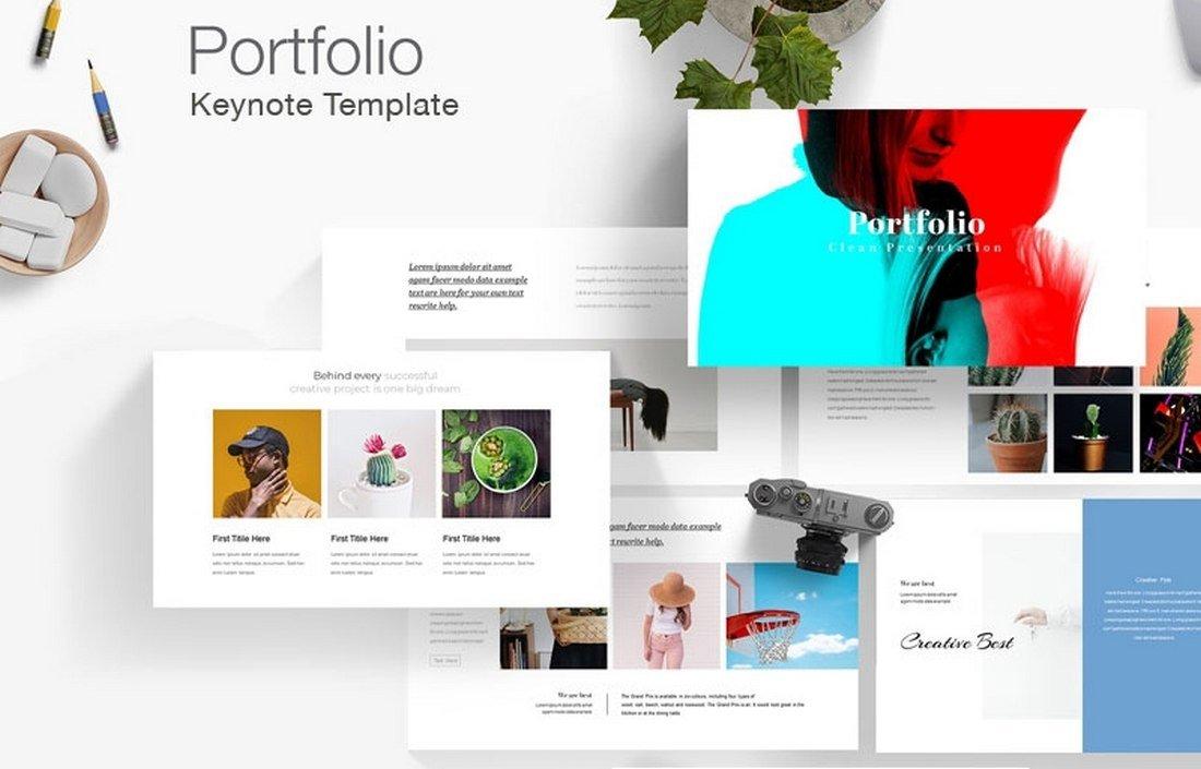 Simple Portfolio - Free Keynote Template