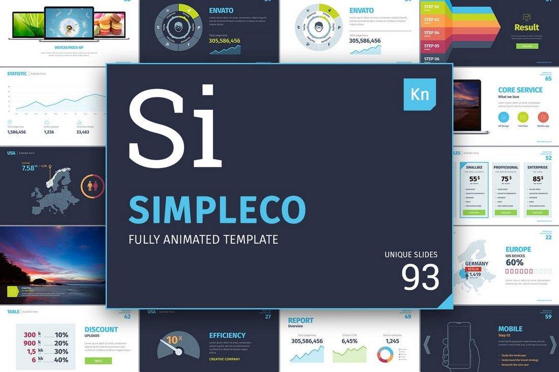 Simpleco - Animated Keynote Template