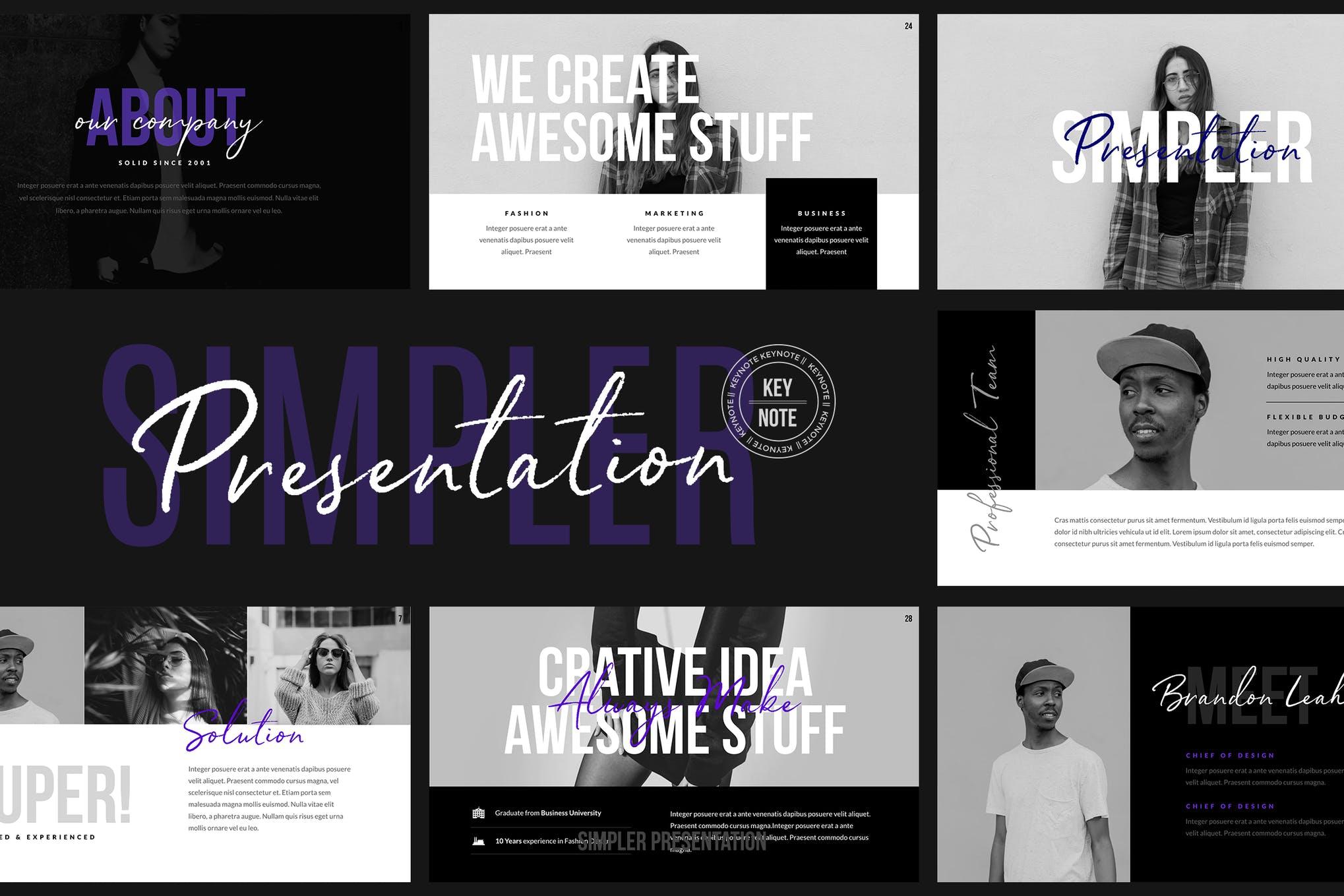 Simpler Presentation - Keynote Template
