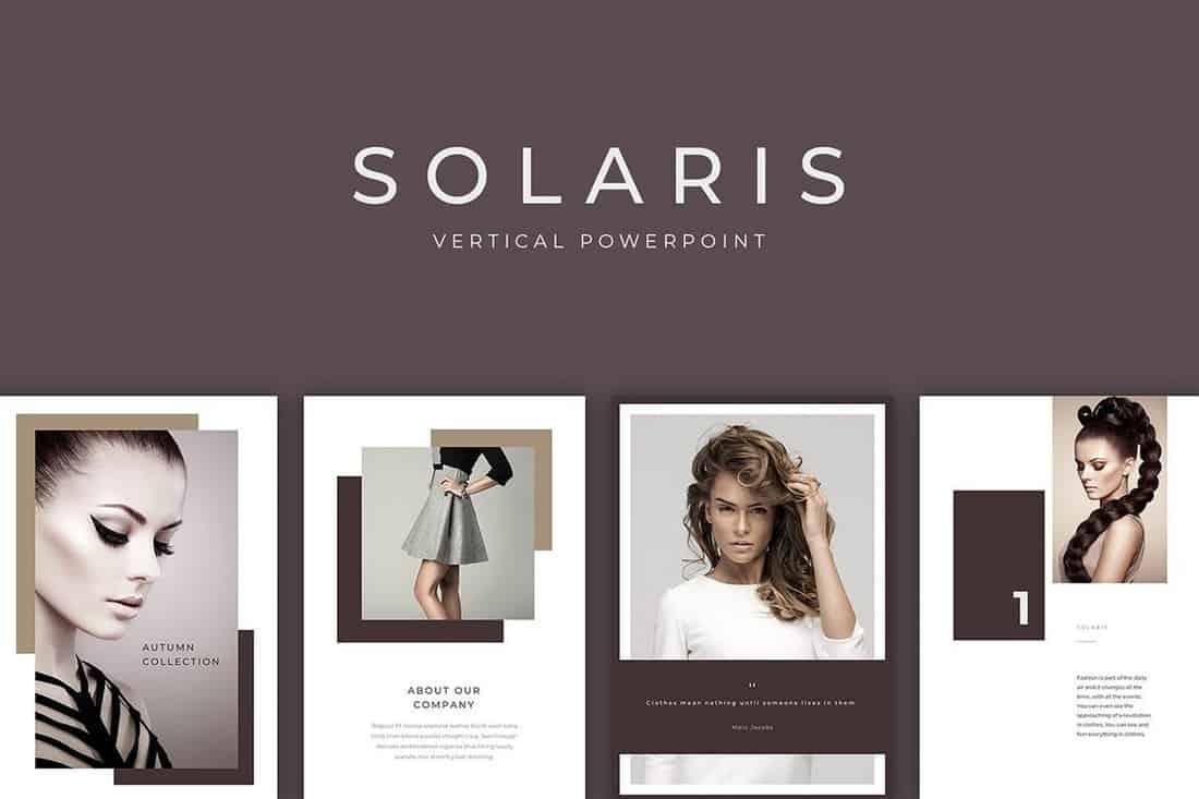 Solaris - Vertical PowerPoint Presentation Template