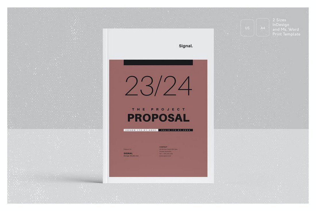 Stylish Project Proposal Word Template