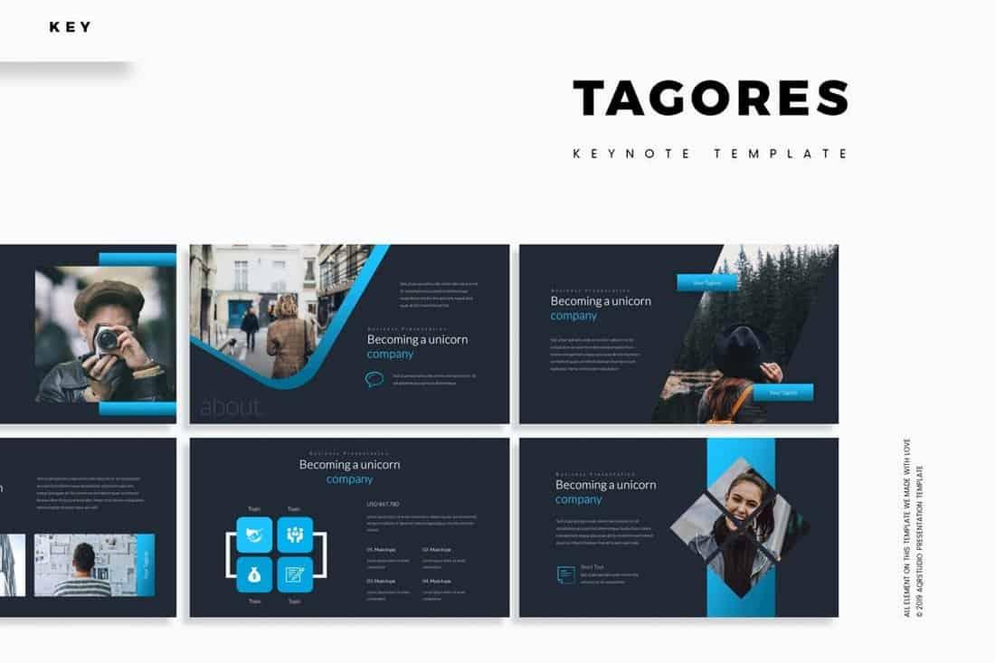 Tagores - Dark Keynote Template