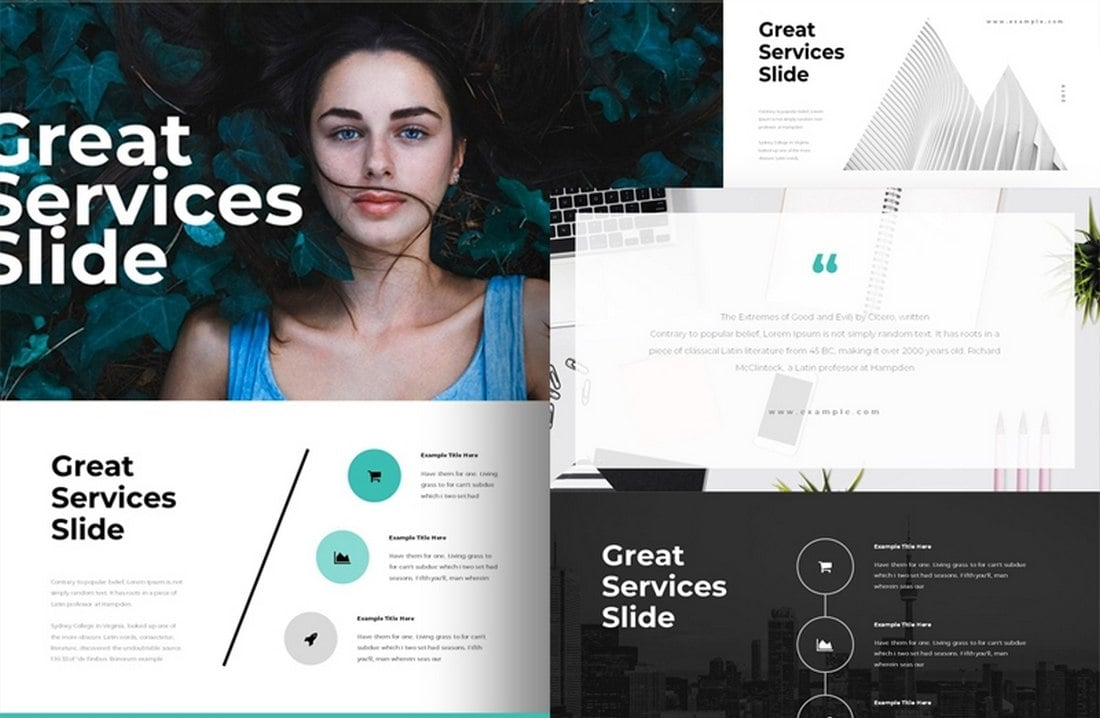 The Services - Free Animated Keynote Template