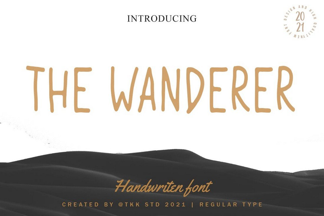 The Wanderer - Condensed Font for Procreate