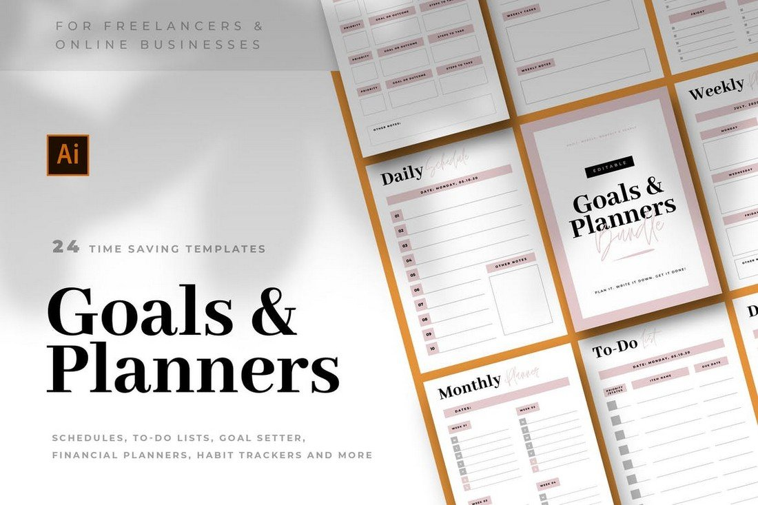 To-Do Lists & Planner Templates Bundle